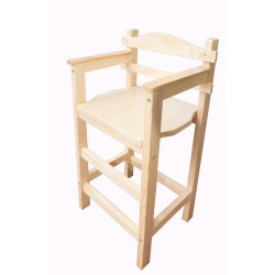 Chaise haute en bois brute personnalisable