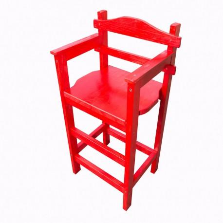 Chaise haute en bois naturel en couleur personnalisable