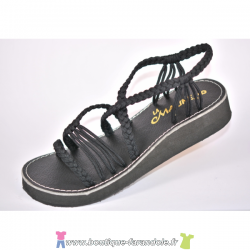 Sandale la Marine Idya compensée Noire