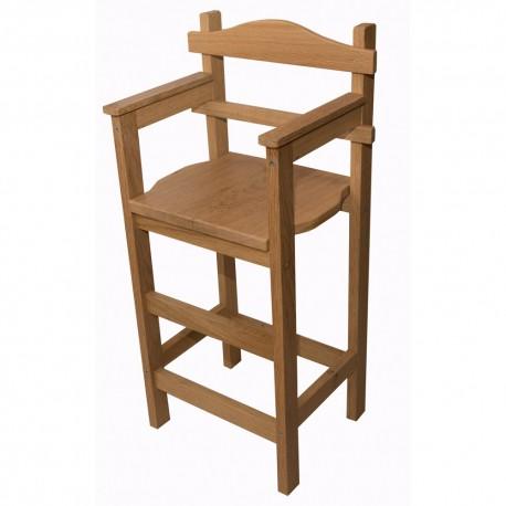 Boutique farandole - Chaise haute en chêne massif