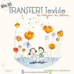 """Transfert textile """"Les deux enfants"""""""