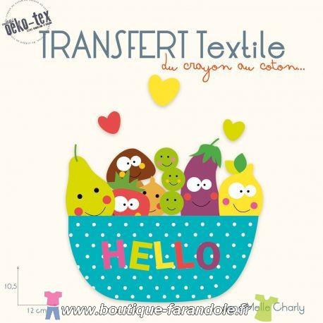 """Transfert textile """"5 Fruits et légumes"""""""