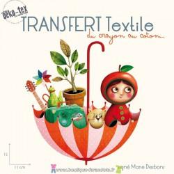 """Transfert textile """"Le parapluie"""""""