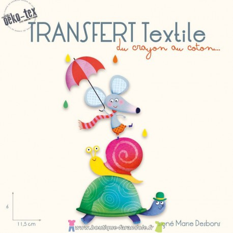 "Transfert textile ""Les 3 amis"""