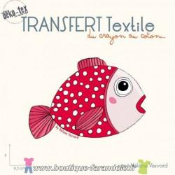 """Transfert textile """"Le poisson"""""""