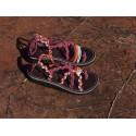 Sandale Mini Marine Vieux rose et fluo orange