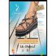 Sandale la Marine Idya compensée noire et taupe