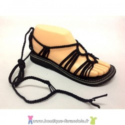 Sandale la Marine Nesa Plate Noire