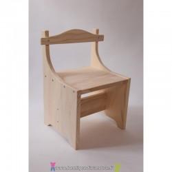 Chaise soyotte en bois massif des Vosges