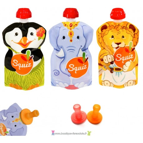 "PACK 3 SQUIZ ""carnaval"" 130 ml + 2 EMBOUTS"
