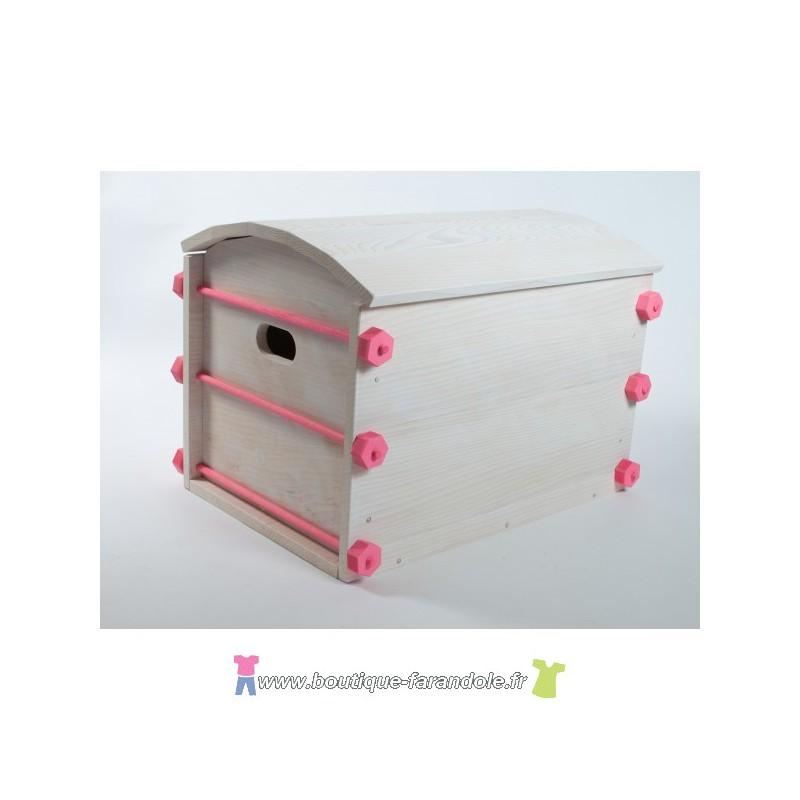 un coffre jouets id al pour le rangement de la chambre. Black Bedroom Furniture Sets. Home Design Ideas