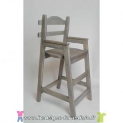 Chaise haute en bois naturel brute ou couleur