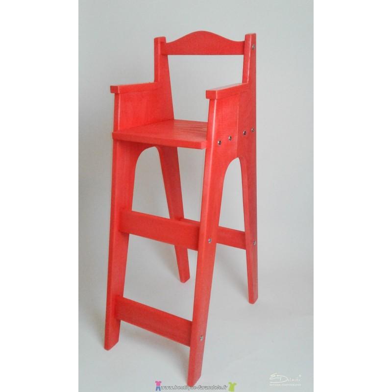 Nouvel Chaise junior- Chaises hautes en bois : Chaise haute en bois naturel LA-95