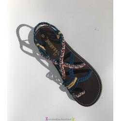Sandale la Marine Calypso Bleu nuit ETHNIC T40