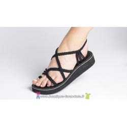 Sandale la Marine CALYPSO compensée Noire