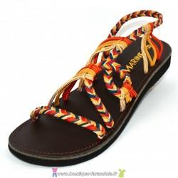 Sandale la Marine Metis plate Ethnic